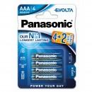 Baterie Panasonic Evolta 4826, R3 / AAA, Alkaline, 6 buc