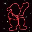 Mos Craciun 360 LED-uri neon, rosu, Hoff, 46 x 42 cm