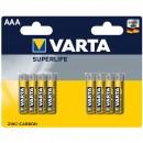 Baterie Varta Superlife Micro, R3 / AAA, Zinc-Carbon, 8 buc
