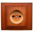 Priza simpla Mono Electric Larissa, incastrata, rama inclusa, cires