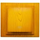 Intrerupator cap cruce, Mono Electric Larissa, incastrat, rama inclusa, stejar