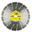 Disc diamantat, cu segmente, pentru debitare materiale de constructii, Klingspor DT 612 UT Supra, 230 x 22.23 x 2.6 mm