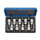 Capete chei tubulare, profil torx exterior, Unior 603657, 20 - 60 mm, 1/2 inch, set 9 bucati