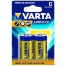 Baterie Varta Longlife Extra 4114, R14 / C, Alkaline, 2 buc