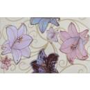 Decor faianta baie / bucatarie Ihlara lucios lilac 25 x 40 cm