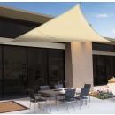 Plasa protectie solara, bej, 3,6 x 3,6 x 3,6 m