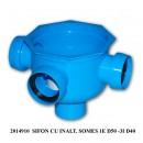 Sifon pardoseala Somes cu inaltator,  1 iesire D 50 mm, 3 intrari D 40 mm