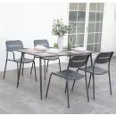 Set masa cu 4 scaune, pentru gradina 2F 24771, din metal