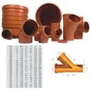 Ramificatie PVC cu inel, 200 x 125 x 45 mm