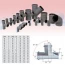 Ramificatie PP HTEA, pentru scurgere, D 125 x 125 mm, 87 grade