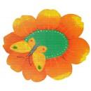 Covoras baie Friedola 77709 model floare, portocaliu, 73 x 66 cm