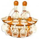 Suport pahare + sticla, 3461, din lemn, 30 x 24 x 32 cm