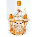 Suport pahare + sticla, 3457, din lemn, 21 x 21 x 29 cm