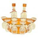 Suport pahare + sticla, 3494, din lemn, 40 x 13.5 x 31.5 cm
