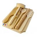 Tocator + accesorii 4002, lemn, 35 x 25 x 7.5 cm