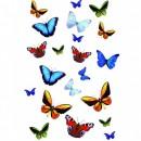 Sticker decorativ perete, camera copii, fluturi multicolor, KW 34016, 15 x 23.5 cm