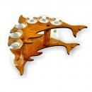 Suport pahar, 3505, din lemn, 32 x 14 x 23 cm