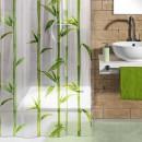 Perdea dus Kleine Wolke Bambus 34176, model bambus, transparent + verde, 180 x 200 cm