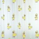 Perdea dus Ducks, model rate, alb + galben, 180 x 200 cm
