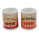 Cana cu mesaj Cea mai buna sotie, ceramica, multicolor, 250 ml