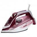 Fier de calcat Zass A10, 2800 W, talpa ceramica, 0.35 l, 160 g/min, sistem auto-curatare, alb cu rosu