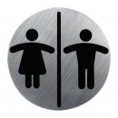 Indicator toaleta, femei / barbati 13530300, crom, ABS, 8 x 8 cm
