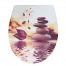 Capac WC duroplast KT-T00PDS14, model pietre, inchidere lenta, 370 x 445 mm