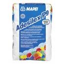 Adeziv flexibil pentru gresie si faianta Mapei Adesilex P9, interior / exterior, alb, 25 kg