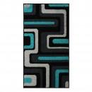 Covor living / dormitor Oriental Weavers Viola Q 921 O55 polipropilena dreptunghiular verde 80 x 140 cm
