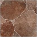 Gresie exterior / interior portelanata antiderapanta Habitat 86451, mata, maro, imitatie piatra, 33.3 x 33.3 cm