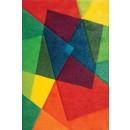 Covor living / dormitor Sintelon Vegas Pop 22AKA polipropilena frize dreptunghiular multicolor 80 x 150 cm