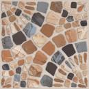 Gresie decor exterior / interior portelanata antiderapanta Moonstone 90551 maro, mata, imitatie piatra, 33 x 33 cm