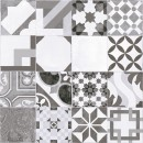 Gresie decor interior, universala, Mosaico, mata, gri,  PEI. 2, 45 x 45 cm