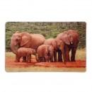 Covoras bucatarie 35434 elefanti poliester dreptunghiular multicolor 80 x 120 cm