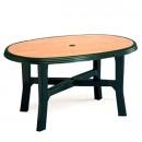 Masa din plastic tamigi wood verde