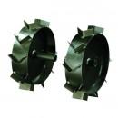 Roti metalice pentru motosapa Bronto Bronto, cu gheare, d 33 cm (1 bucata = 1 set 2 roti)