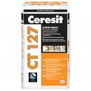 Glet pentru finisaje fine, pe baza de ciment, Ceresit CT 127, interior, 20 kg