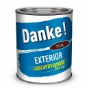 Vopsea alchidica pentru lemn / metal, Danke, exterior, maro ciocolatiu, 2.5 L