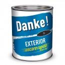 Vopsea alchidica pentru lemn / metal, Danke, exterior, neagra, 2.5 L