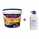 Vopsea lavabila interior, Super Sticky, alba, 15 L + amorsa 4 L