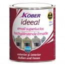 Vopsea alchidica pentru lemn / metal, Kober Ideea, interior / exterior, gri metal E51850, 4 L