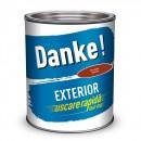 Vopsea alchidica pentru lemn / metal, Danke, exterior, rosie inchis, 0.75 L