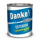 Vopsea alchidica pentru lemn / metal, Danke, exterior, gri metal, 2.5 L