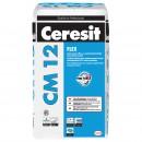 Adeziv flexibil pentru gresie si faianta Ceresit CM 12, interior / exterior, gri, 25 kg