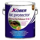 Lac / lazura subtire 2 in 1 pentru lemn, Kober, cires, interior / exterior, 10 L