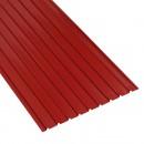 Tabla zincata cutata vopsita, rosu (RAL 3011), H 12 0.3 x 870 x 1500 mm