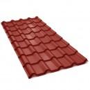 Tigla metalica Bilka Balcanic, rosu inchis mat (RAL 3009), 2930 x 1180 x 0.5 EN 10143 mm