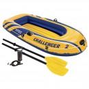 Set barca gonflabila / pneumatica Intex 68367 Challenger 2, pentru 2 persoane + vasle + pompa manuala