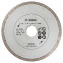 Disc diamantat continuu pentru debitare placi ceramice Bosch Ceramic, 125 x 22.23 x 1.7 mm