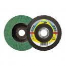 Disc lamelar frontal, multistrat, pentru inox, Klingspor SMT 636 Supra, 125 x 22.23 mm, granulatie 60